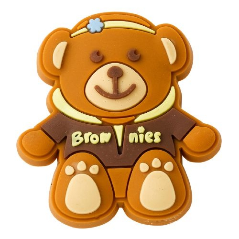 Brownie Rubber Pin Badge - Hoodie
